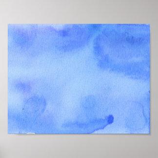 Poster Couleur pour aquarelle de marbre bleue