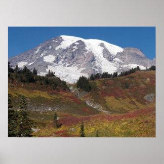 Poster Couleurs d'automne du mont Rainier