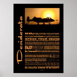 Poster Coup de foudre des desiderata A-10 de poème de