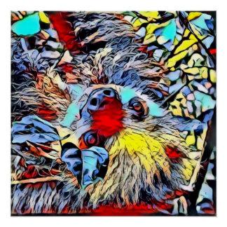 Poster Coup-de-pied de couleur - paresse II