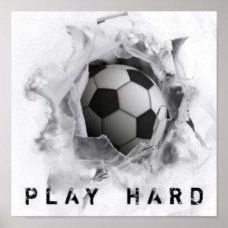 Poster coup-de-pied du football