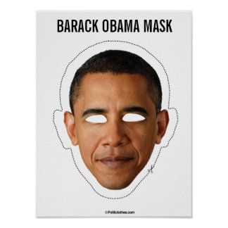 Poster Coupe-circuit de masque de Barack Obama