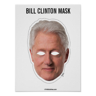 Poster Coupe-circuit de masque de Bill Clinton