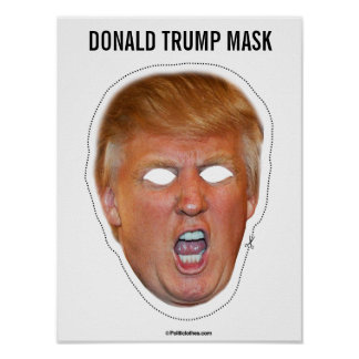 Poster Coupe-circuit de masque de Donald Trump