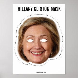 Poster Coupe-circuit de masque de Hillary Clinton