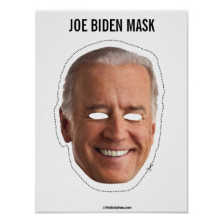 Poster Coupe-circuit de masque de Joe Biden