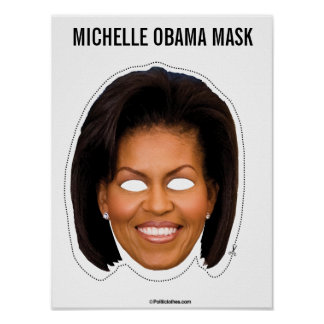 Poster Coupe-circuit de masque de Michelle Obama