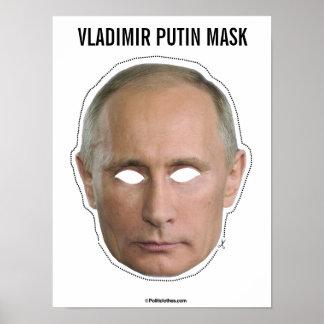 Poster Coupe-circuit de masque de Vladimir Poutine