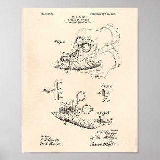Poster Coupeur pour l'art vieux Peper de brevet des