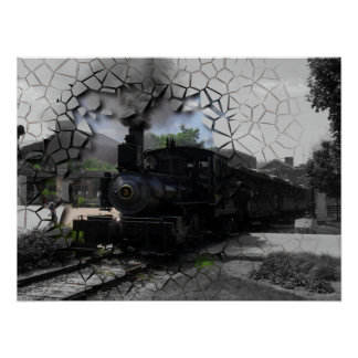 Poster Coupure sur le train traversant