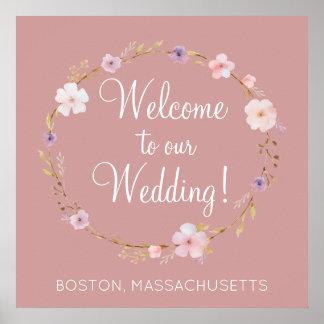 Poster Couronne florale de mariage