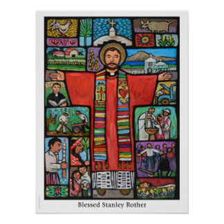 Poster Courrier béni de Stanley Rother, premier martyre