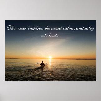 Poster Courrier inspiré de citation de canoë de kayak de