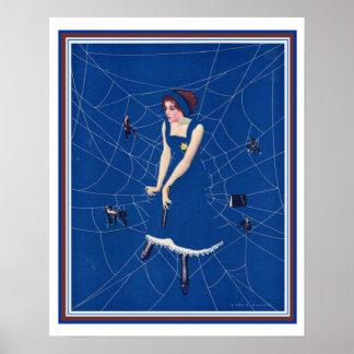 Poster Couverture 16 x 20 de la vie de toile d'araignée
