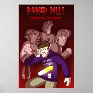 Poster Couverture du livre 1 de pilules de puissance