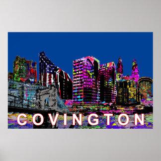Poster Covington dans le graffiti