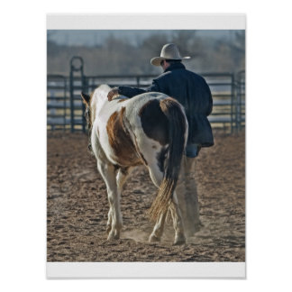 Poster cow boy cheval
