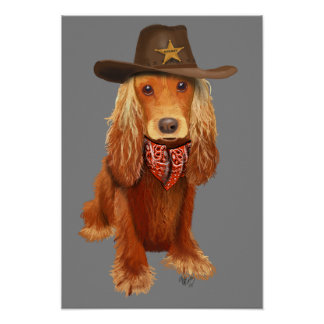 Poster Cowboy de cocker