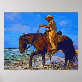 Poster Cowboy monté