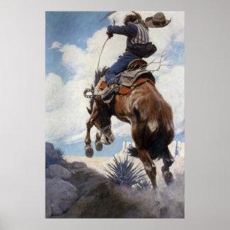 Poster Cowboys occidentaux vintages, s'opposant par OR