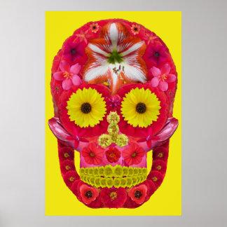 Poster Crâne 6 de fleur