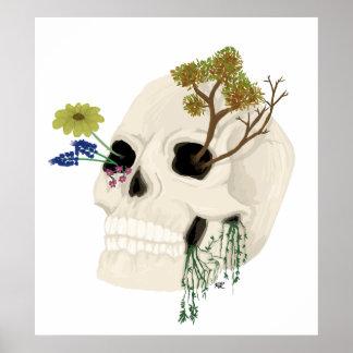 Poster Crâne envahi