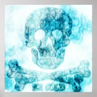 Poster Crâne et affiche glacés d'os croisés