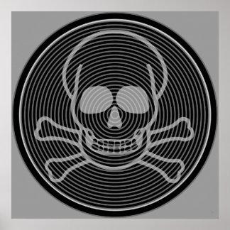 Poster Crâne et emblème d'os croisés