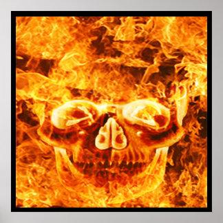 Poster Crâne flamboyant du feu