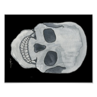 "Poster Crâne gris 11"" x 8,5"""