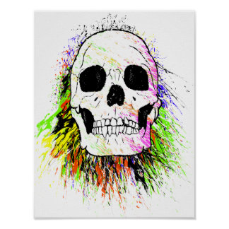 Poster Crâne humain