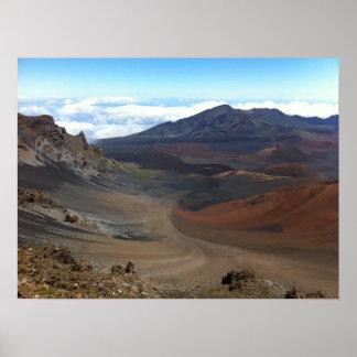 Poster Cratère de volcan de Haleakala, Maui, Hawaï