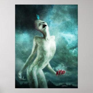 Poster Créature de mangeur d'organe de coeur