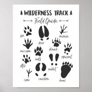 Poster Crèche animale de région boisée d'impression de