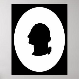 Poster Créez votre propre silhouette de George Washington