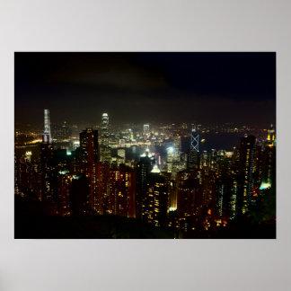 Poster Crête de Hong Kong Night affiche