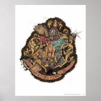 Poster Crête vintage de Harry Potter | Hogwarts