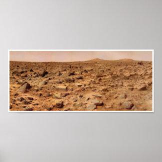 Poster Crêtes de jumeau de paysage de la NASA Mars