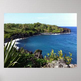 Poster Crique reculée dans Maui, Hawaï