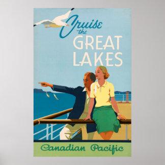 Poster Croisent l'affiche vintage de voyage de Great
