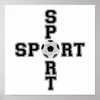 Poster Croix fraîche du football de sport