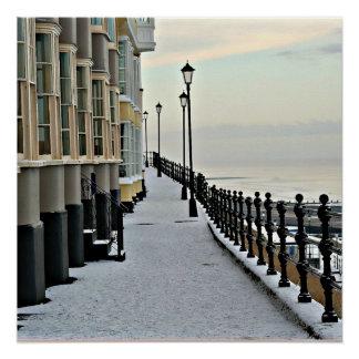 Poster Cromer en hiver.
