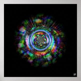 Poster Croquis psychédélique coloré d'un oeil