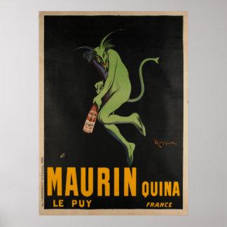 Poster Cru d'Apertif d'absinthe de Maurin Quina Cappiello
