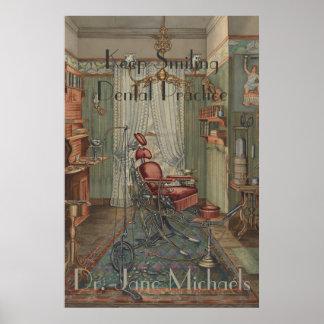 Poster Cru dentaire de gouache d'aquarelle de salle