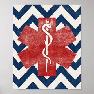 Poster Cru d'impression d'art d'infirmier d'affiche