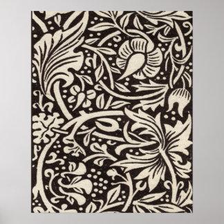 Poster Cru floral de motif de jonquille de William Morris