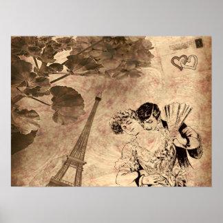 Poster Cru romantique de Paris
