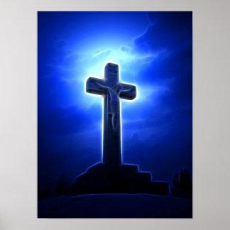Poster Crucifixion de stupéfaction Jésus