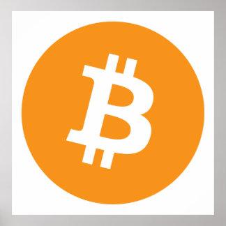 Poster Crypto logo de devise de Bitcoin